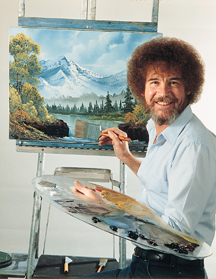 Bob Ross at Easel