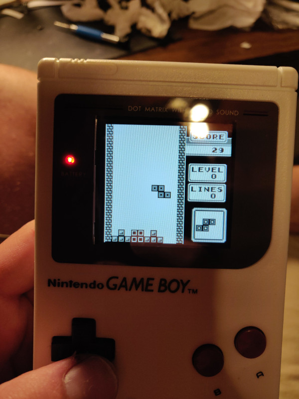 Tetris on the GameBoy